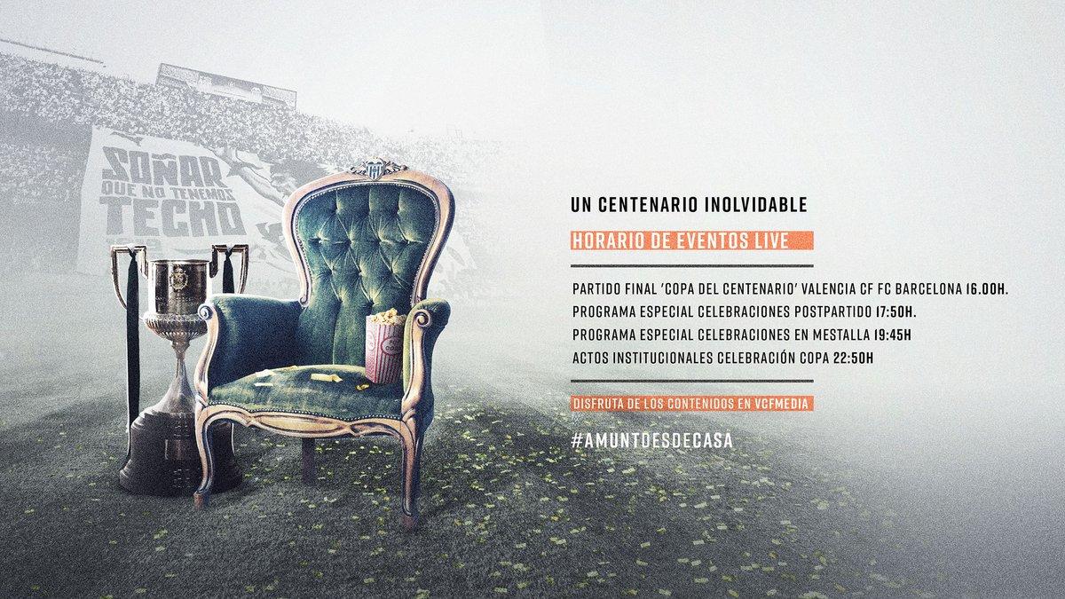 📽️ Nuestra PROGRAMACIÓN 𝗘𝗦𝗣𝗘𝗖𝗜𝗔𝗟 en el aniversario de la #CopaDelCentenari 🏆  Desde las 16:00H con contenido EXCLUSIVO para tí, valencianista 🦇 ¡No te la puedes perder! 🤩  WEB 💻 https://t.co/dY0vHCV2Pr APP 📲 https://t.co/lvJFC26q8c  #AMUNTWorld 🌏 https://t.co/2jHg9wDcRQ