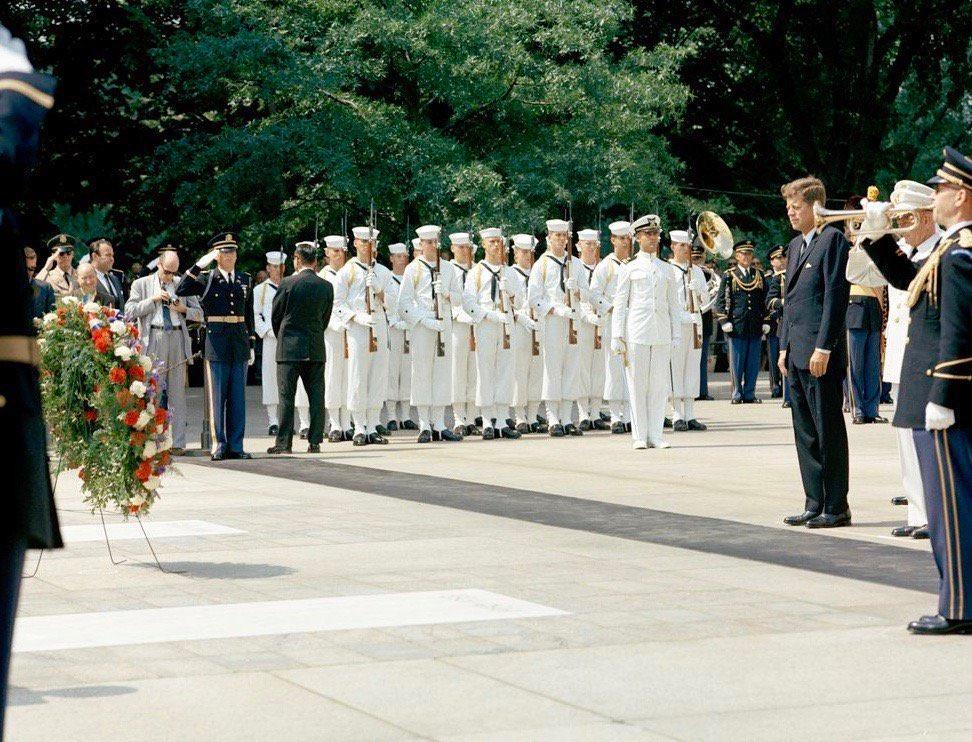 JFK at Arlington National Cemetery, Memorial Day 1963: #JFKL