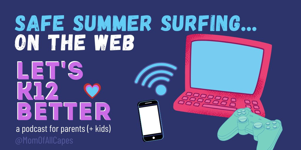 How can we stay safe on the internet this summer? We use my story of Little Red Riding Hood to explain internet safety, #medialiteracy, and hold a family discussion about ads.👀😱 momofallcapes.com/blog/safe-summ… #MondayBlogs #LetsK12Better #edchat #edutwitter