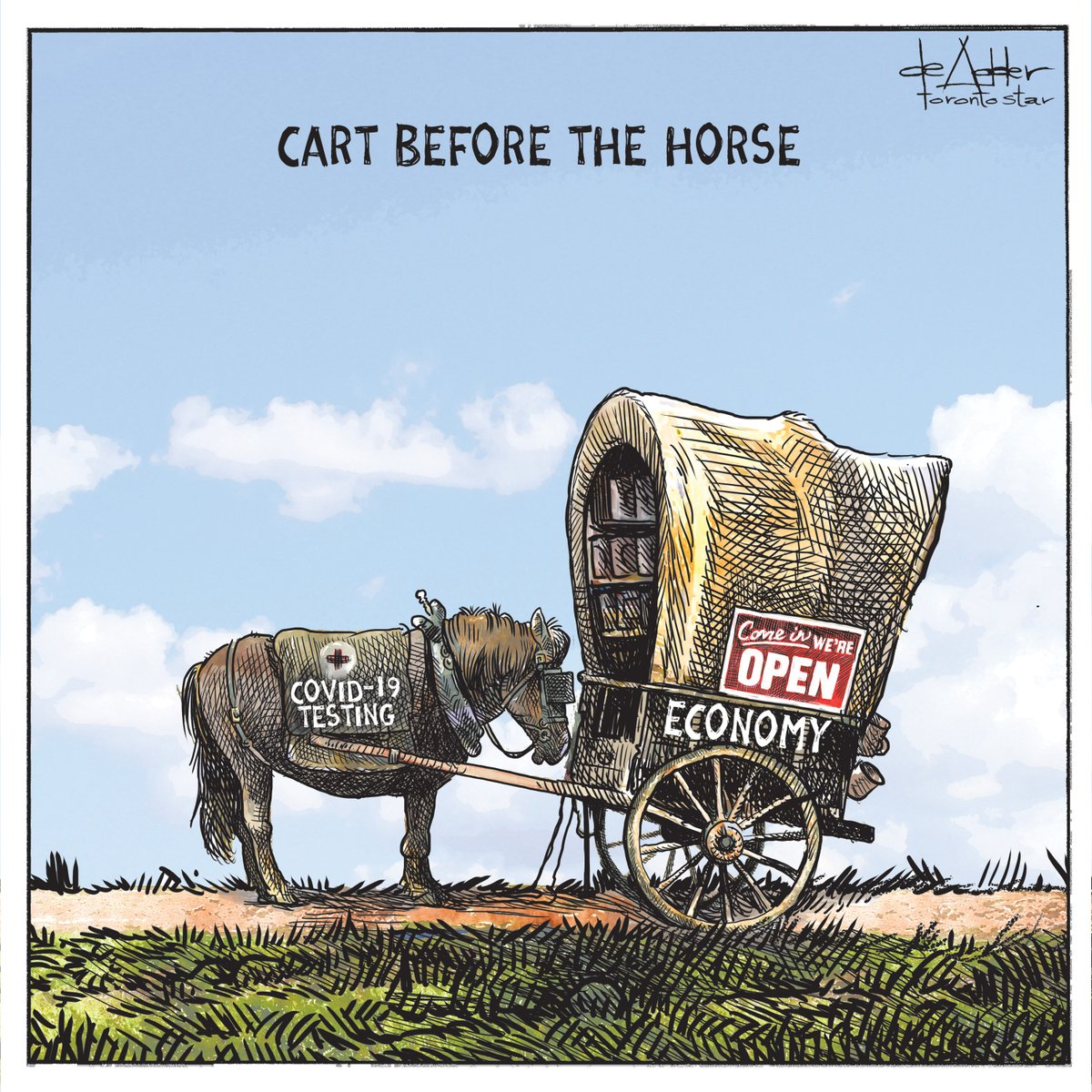 Cartoon for @TorontoStar #covid19 #coronavirus #economy #economywarriors #COVIDIOTSpic.twitter.com/1VUDgG8aI6