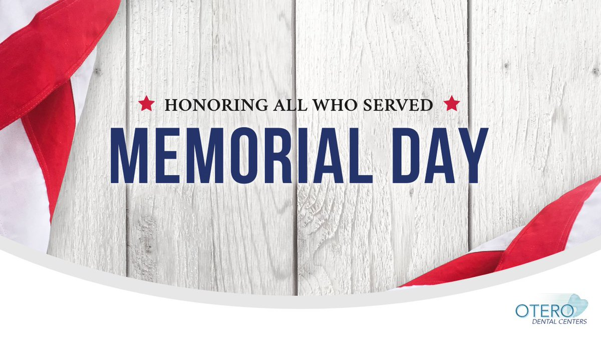 Today we honor and remember those who died while serving in the military. Today we raise awareness of this great Nation's freedom and the price for this freedom. Thank you.  #miami #oterodentalcenters #odcsmiles #Toothbrush #HappyTeeth #OralHealth #MiamiDentist #happy #smile