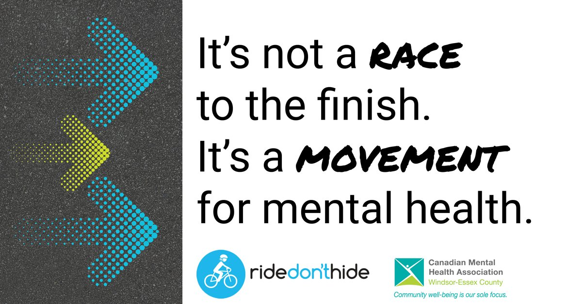 test Twitter Media - #RideDontHide directly funds CMHA programs and services that are in higher demand than ever before. Donate today to connect people in Windsor-Essex to the #mentalhealth supports they need and deserve. #NoOneRidesAlone #KeepConnected #ShowYourSole https://t.co/J0JaOBGgQd https://t.co/xKcZoSTI2U