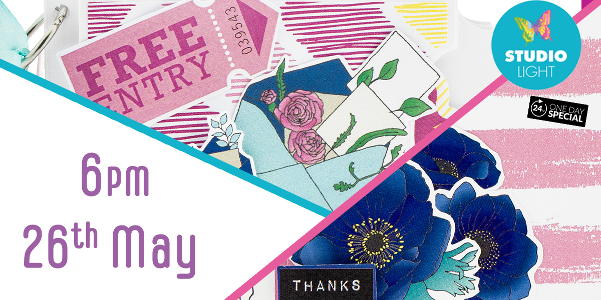 Introducing the brand new Happy Moments Collection from Studio Light!   Join Lou Withers tomorrow from 6pm to check out this bright and funky range of stamps, dies and papers! #Studiolight #HappyMoments #Hochanda #Craftspic.twitter.com/GpV3gqsFhd