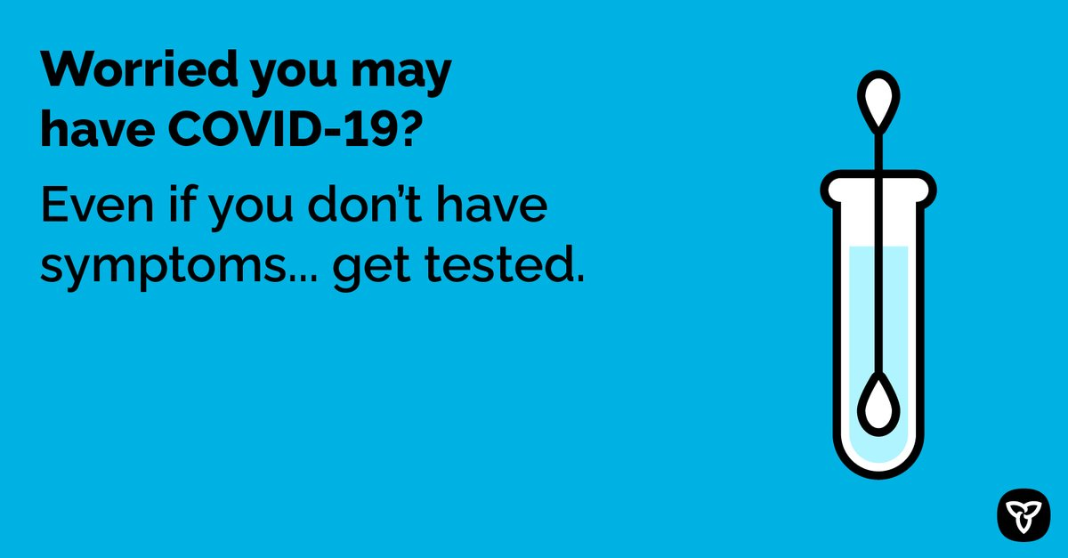 test Twitter Media - If you are worried you may have #COVID19, or been exposed to someone with COVID-19, you can get tested. Visit your nearest assessment centre or contact your doctor or Telehealth Ontario at 1-866-797-0000 for information. https://t.co/RwAuxFz0xw | #StopTheSpread https://t.co/E9eAXXZBd3