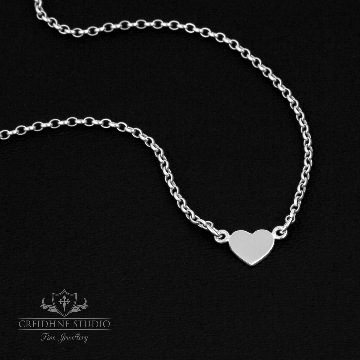 Tiny Heart Day Collar, Sterling Silver, very delicate and discreet day collar  BUY NOW:   SHOP:   #gothgirl #goth #necklace #ddlgcollar #daycollar #discreet #sterlingsilver #alternativestyle #heart