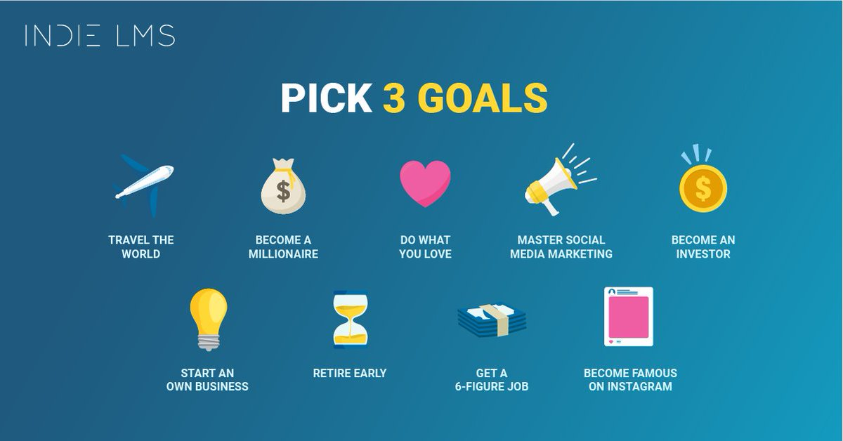 What are the 3 most important goals for you?  #Hustle #BeYourOwnBoss #Inspirepic.twitter.com/ovA6rNnx60
