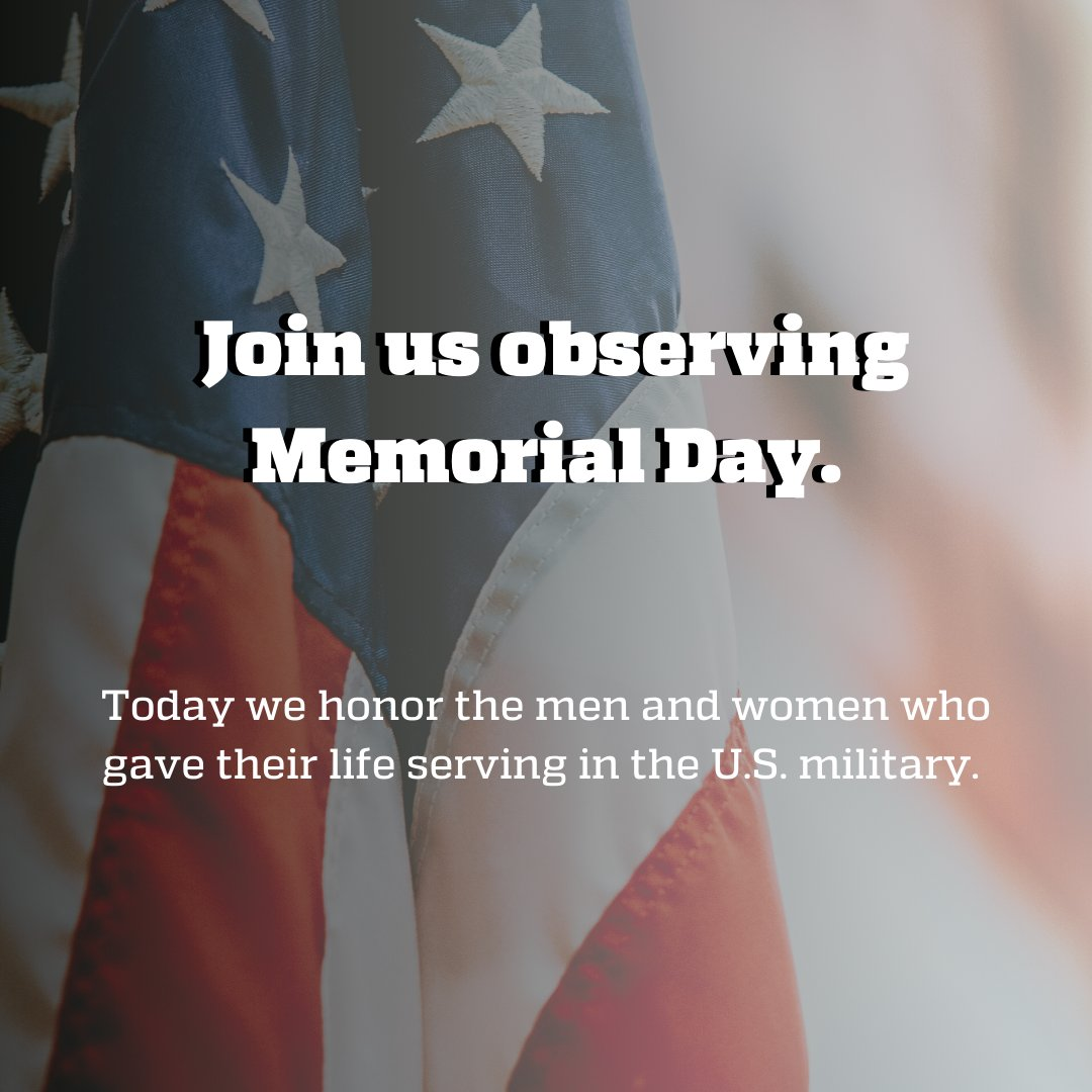 A moment of silence in honor of our veterans who've passed away. #MemorialDay