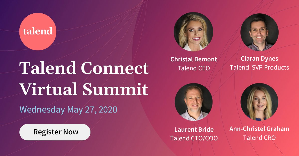 On Wednesday, join your peers online for @Talends annual #TalendConnect event! Be among fellow #data lovers and get the skills to move quicker, pivot faster, and make every decision count. RSVP for free now: bit.ly/3dsfwyC v @antgrasso #TalendInfluencer #FindDataClarity