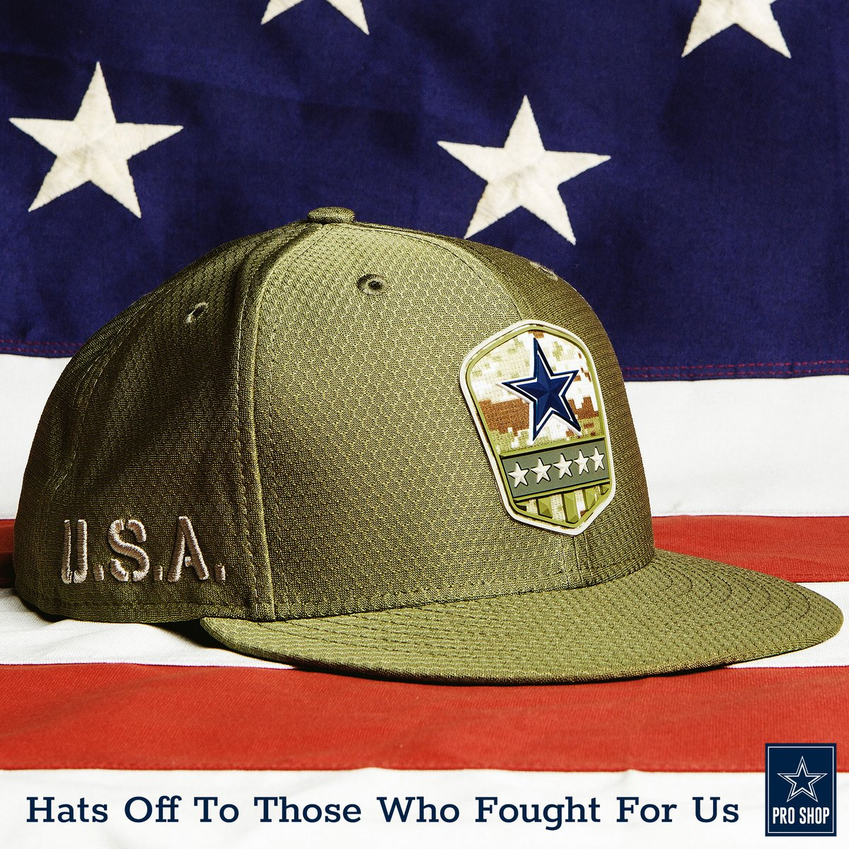 """On behalf of #CowboysNation, we say """"thank you"""" & take our hats off this Memorial Day for all of those who have made the ultimate sacrifice. https://t.co/4vw9yld9Gc"""