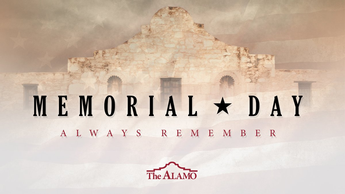 The Alamo (@OfficialAlamo) on Twitter photo 25/05/2020 14:01:07