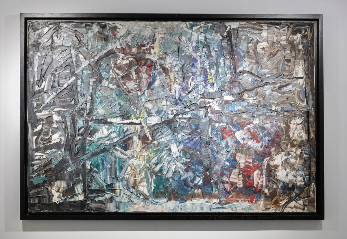 """""""My purpose is not abstraction, it's moving towards a free gesture; it's trying to understand what is nature, starting not with the destruction of nature but with the world"""". - Jean Paul Riopelle  Artwork: St. Paul, 1966, Oil on canvas, 97 x 146 cm  #JeanPaulRiopellepic.twitter.com/FVSq5rjgVH"""