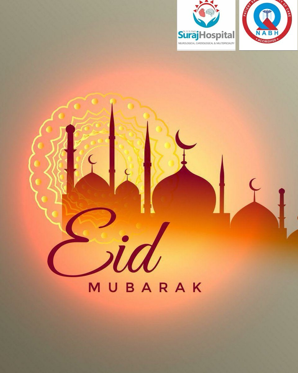 Eid Mubarak to all from Dr R N Patil's Suraj Hospital.. ##healthcare##Neurology##Neurosurgery##Spinecare##cardiology##Neurorehabilitation##painmanagement##hospitals##neuromodulation##migraine##Newbombay##letsfightcorona##Eidmubarakpic.twitter.com/TvvzjtpsQ2