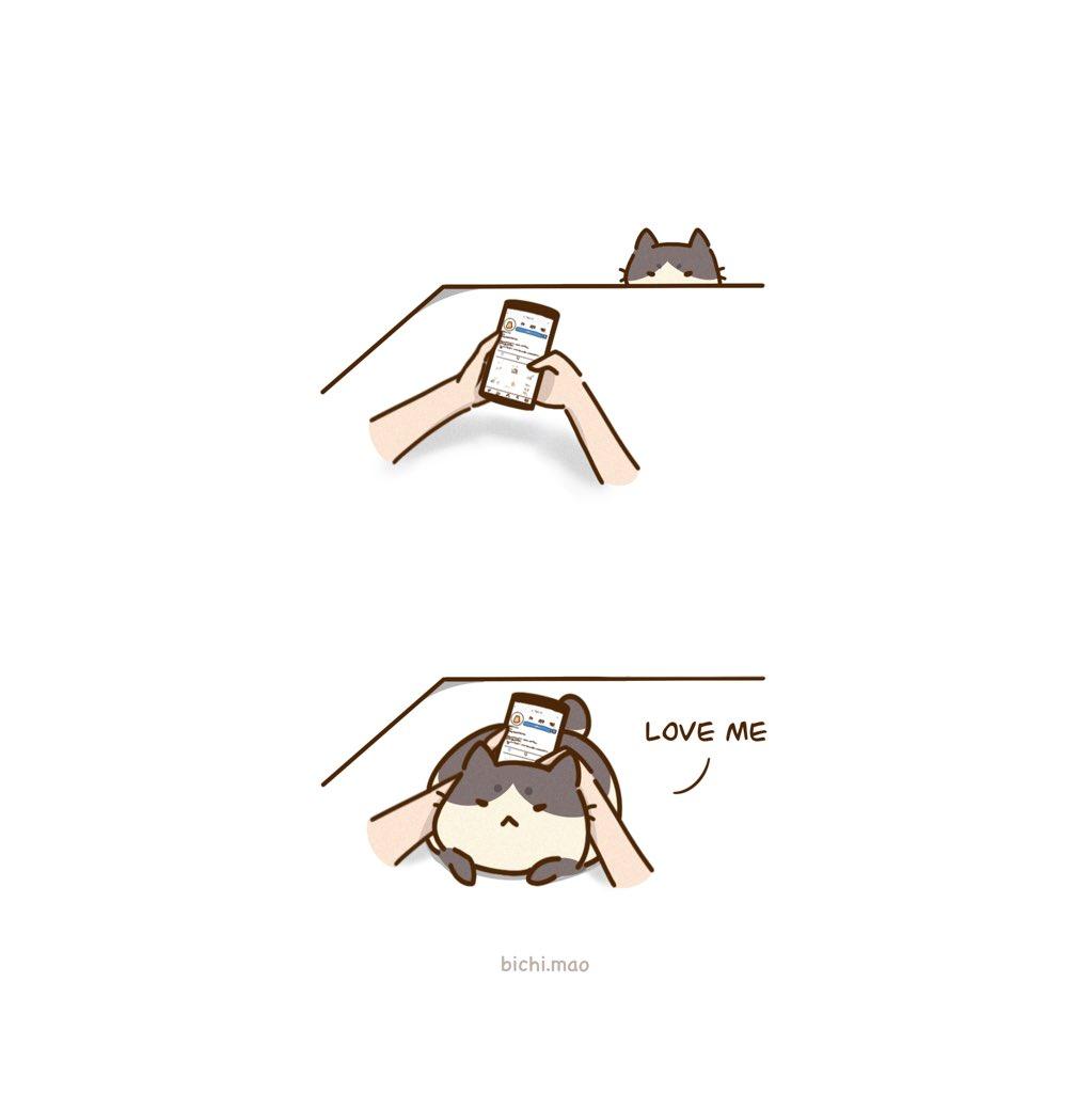 Love me please...  #comic #art #drawing #CuteCat #illustration #relatable #ArtistOnTwitter #digitalart #webcomics #comics #kawaiipic.twitter.com/irAdOBh3VG