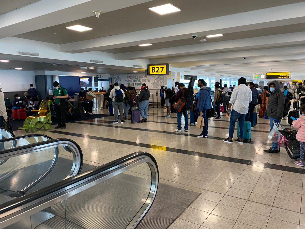Fifth flight for South East USA under #VandeBharatMission leaving today from @JFKairport for Bangalore. Happy reunion with friends and families to all. #IndiaFightsCorona @DrSJaishankar @harshvshringla @SandhuTaranjitS @MEAIndia @airindiain @IndianEmbassyUS @MoCA_GoI @PIB_India