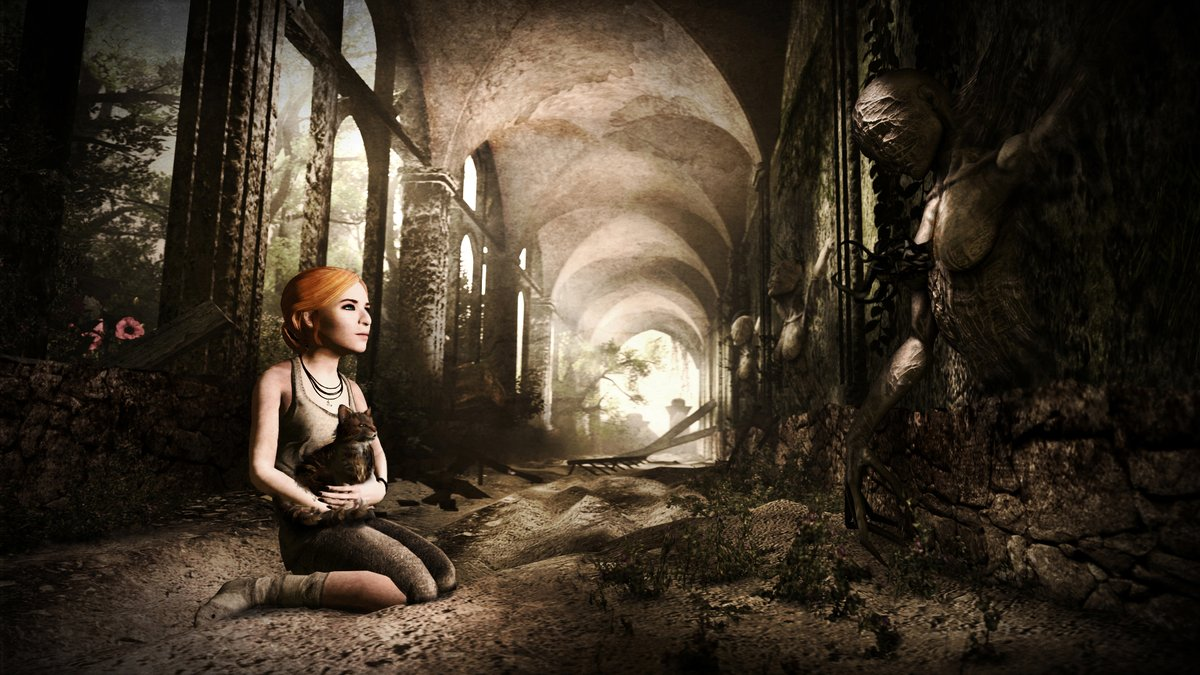 """Recollection Passage"", April 2016 #redheadgirl #cat #gothic #biomechanical #sourcefilmmaker #3dblender #sfm #3dmodel #3dartpic.twitter.com/GRYaQK89O8"