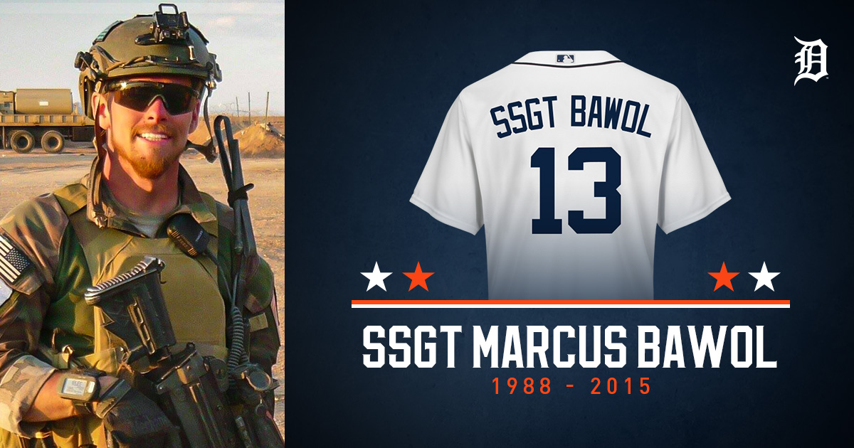 Replying to @tigers: In memory of Staff Sergeant Marcus Bawol.  #MemorialDay