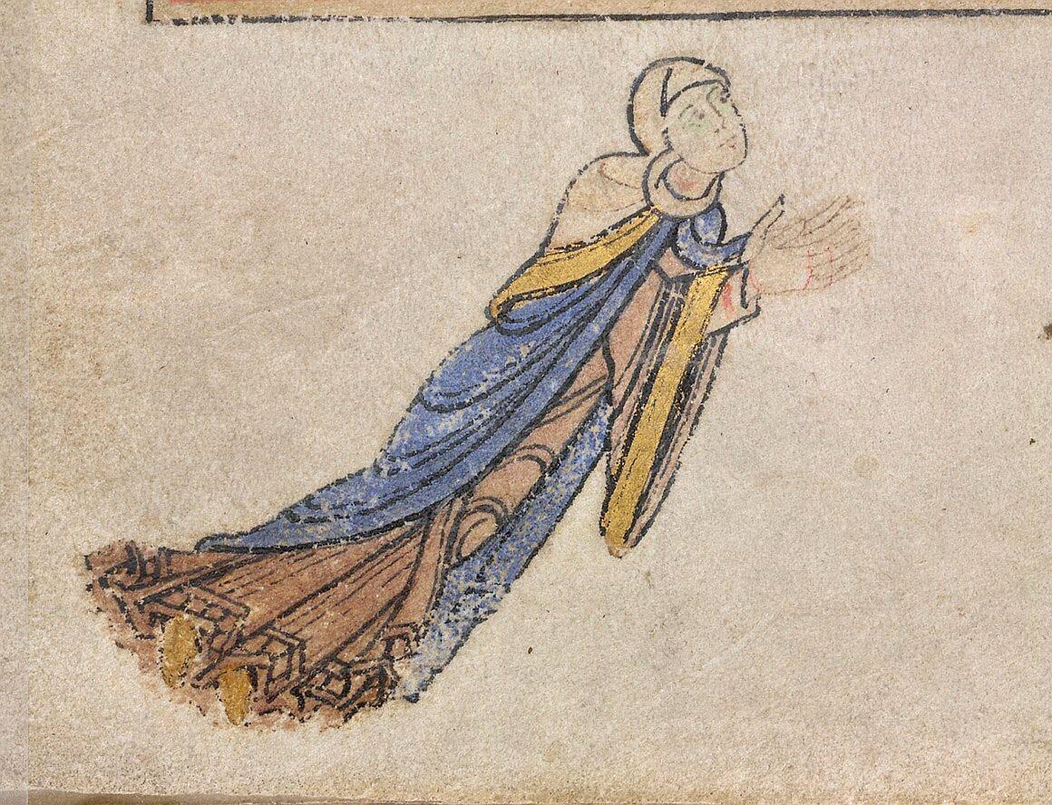 Flying superabbess! @SisterWalburga  Lansdowne 383; the 'Shaftesbury Psalter'; England; 12th century; f.14v @BLMedieval