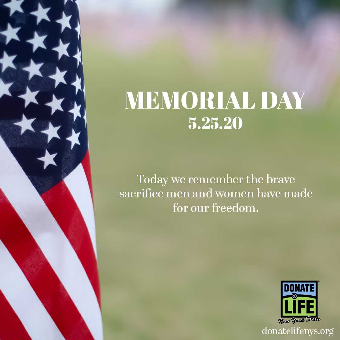 Home of the free because of the brave. #MemorialDay #2ndHeart #donatelife pic.twitter.com/0KuwqlKmlG