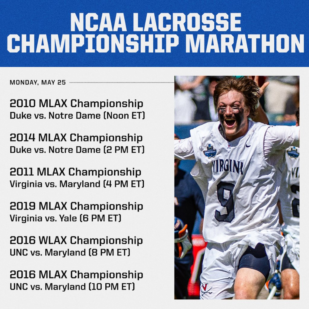 ACC LAX National Championship Marathon. All. Day. Long. You in? 🥍🏆