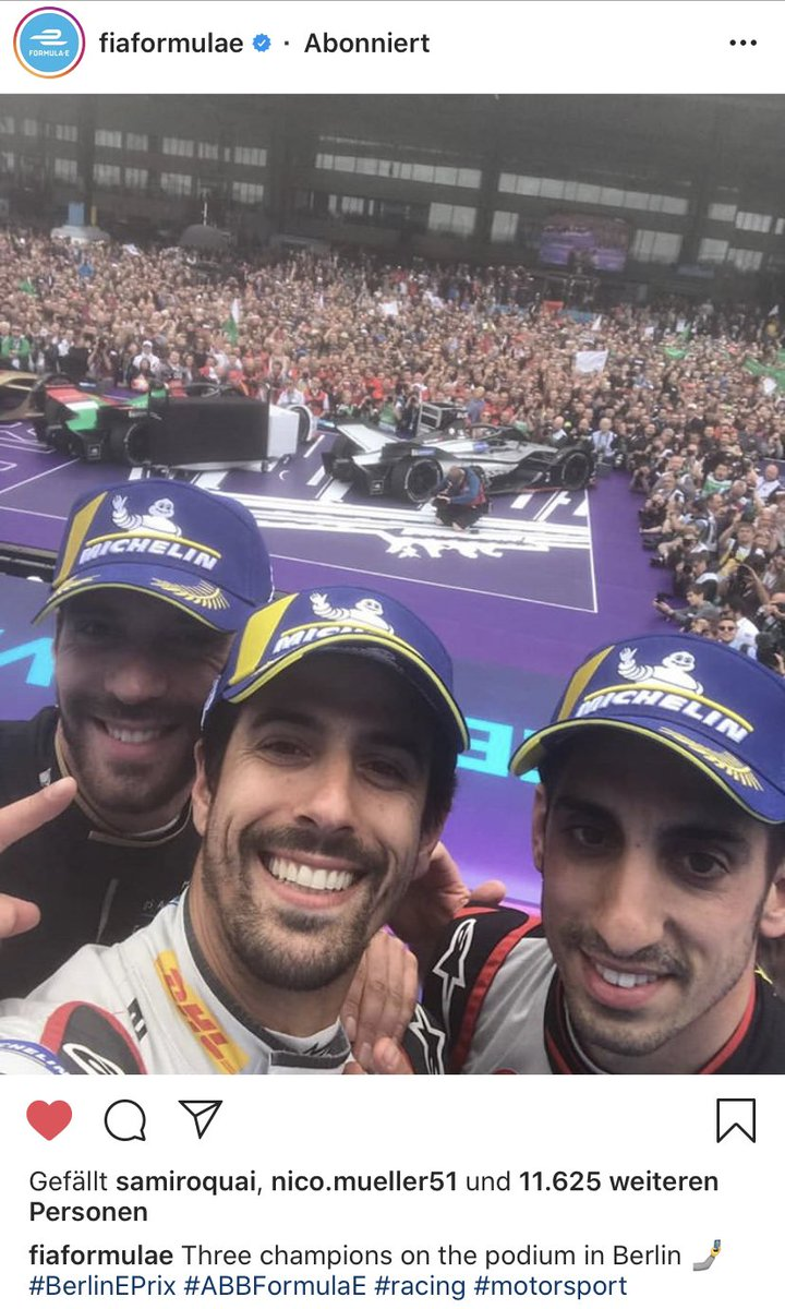 25.05. one year ago... Three champions on the podium, packed house at Tempelhof Airport, @maxg_official meets @arnefriedrich, watching AND WE GO GREEN with the @FIAFormulaE crew 😍👌🏼 Cheers to everyone who still believes, that we'll bring the #BerlinEPrix back this year! https://t.co/AV9WThOOxg