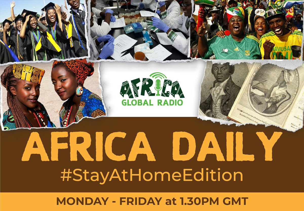 Check out #WhatsOn and #WhatsNew with Maame Aba on Africa Daily on http://africaglobalradio.com . #WhatsOn Africa *#AfricaDay2020 #AfricaUnityDay #AfricanUnity #57thAfricaDayCelebration #AfricaUnion  *Free Web Broadcast - #AfricaLiberationDay2020 #AllAfricanPeoplesRevolutionaryPartypic.twitter.com/1TNiANGZS7