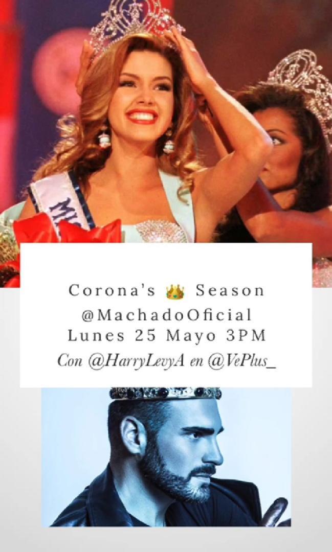 ¡No te lo puedes perder! Hoy a las 3:00 PM por el #Instagram de @VePlus_    👑@machadooficial  @HarryLevyA  https://t.co/1G7Ez2NuT6 https://t.co/NCsgATXiZY