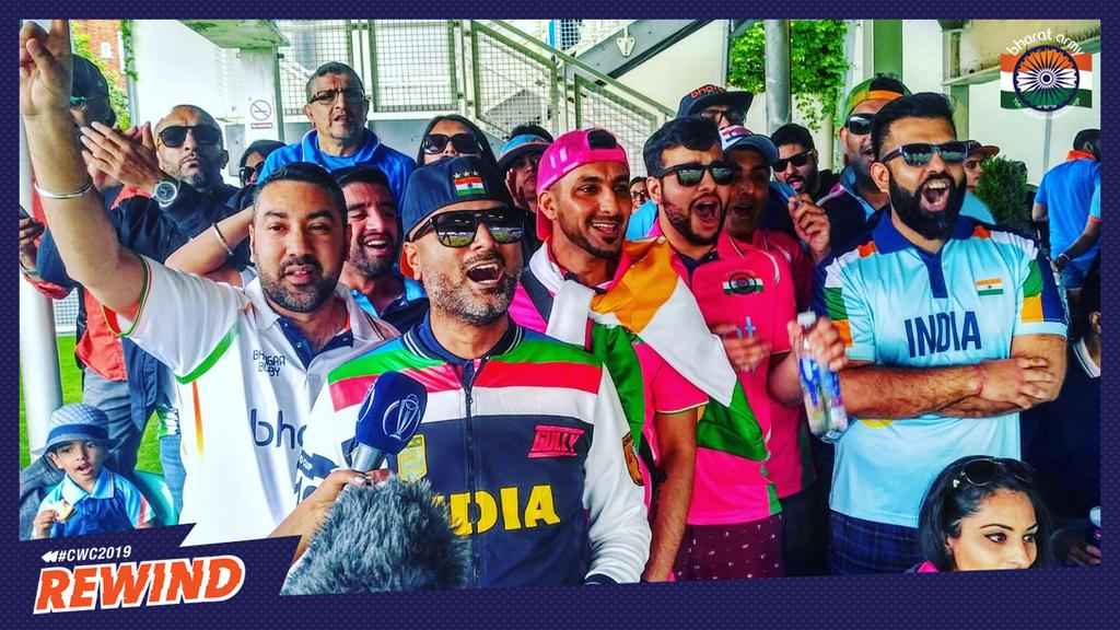 #CWC19Rewind to the #INDvNZ Warm Up match at @KiaOvalEvents where over 25,000 Indian Cricket Fans turned up to welcome #TeamIndia to the ICC Cricket World Cup 2019   #socialdistancing #breakthechain #stayhome   #teamindia #cwc19 #cwc19rewind  #lovecricket #bharatarmy<br>http://pic.twitter.com/1K7myGEpy2