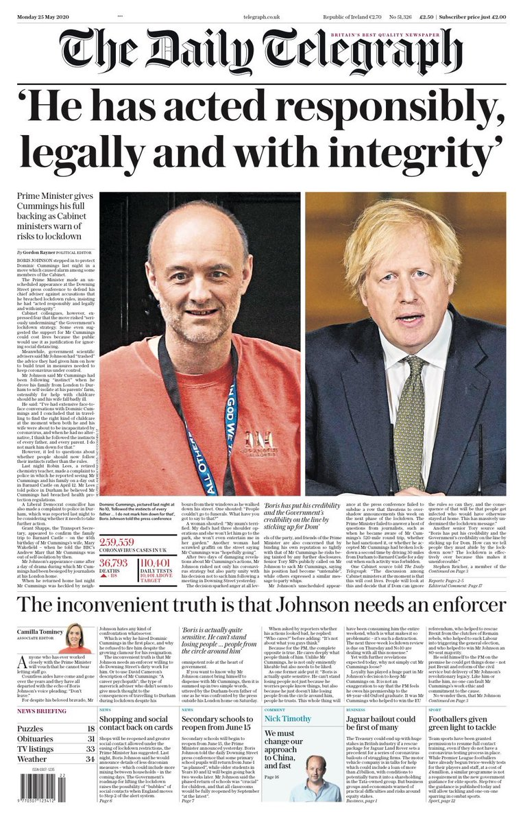 The Telegraph, about as left-wing as Wilson Witzel since 1855pic.twitter.com/QC9z9fwN8E