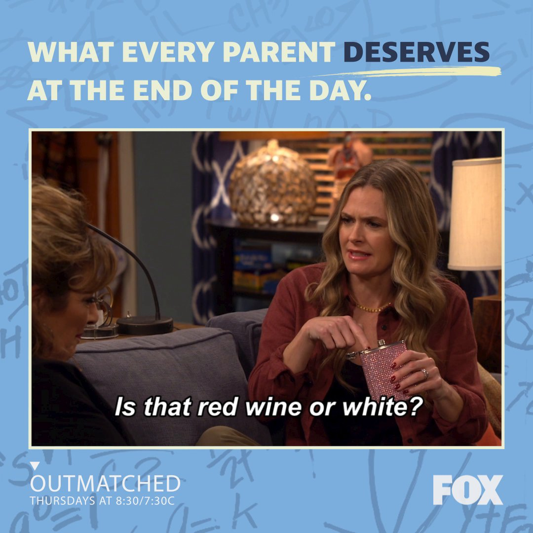 It's Kay's favorite day! Pour it up for #NationalWineDay. 🍷 #Outmatched