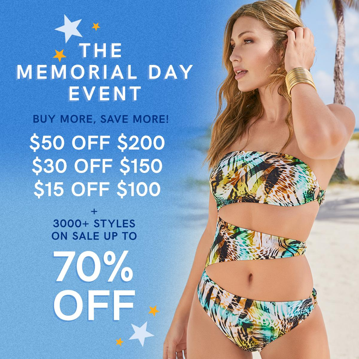 Happy Memorial Day! Today only, the more you buy, the more you save. Plus, don't miss our holiday sale with over 3,000 styles marked down up to 70% off! Hurry, offer expires tonight at midnight ET. https://t.co/CX4sUmZQRG https://t.co/yh96ookdWK