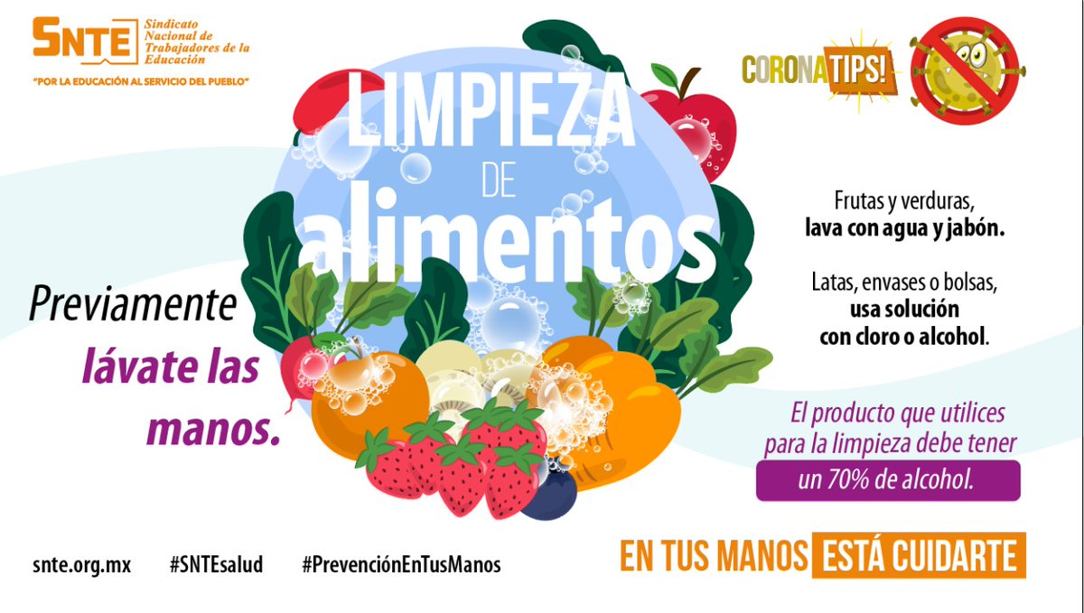 #SNTEsalud ⚕️ Cómo desinfectar verduras 🥦 y alimento enlatado 🥫❓ Aplícate: saca 💯 en fase de alto contagio ⚠️ 🗣️ ⚠️ por #coronavirus #COVID19 🦠 #QuedateEnCasa #FelizLunes #25Mayo #HotSale #COVIDー19 #LaVidaEsPoderosa Siii #iniciodesemana #26Mayo #ReactivemosGTO Spotify