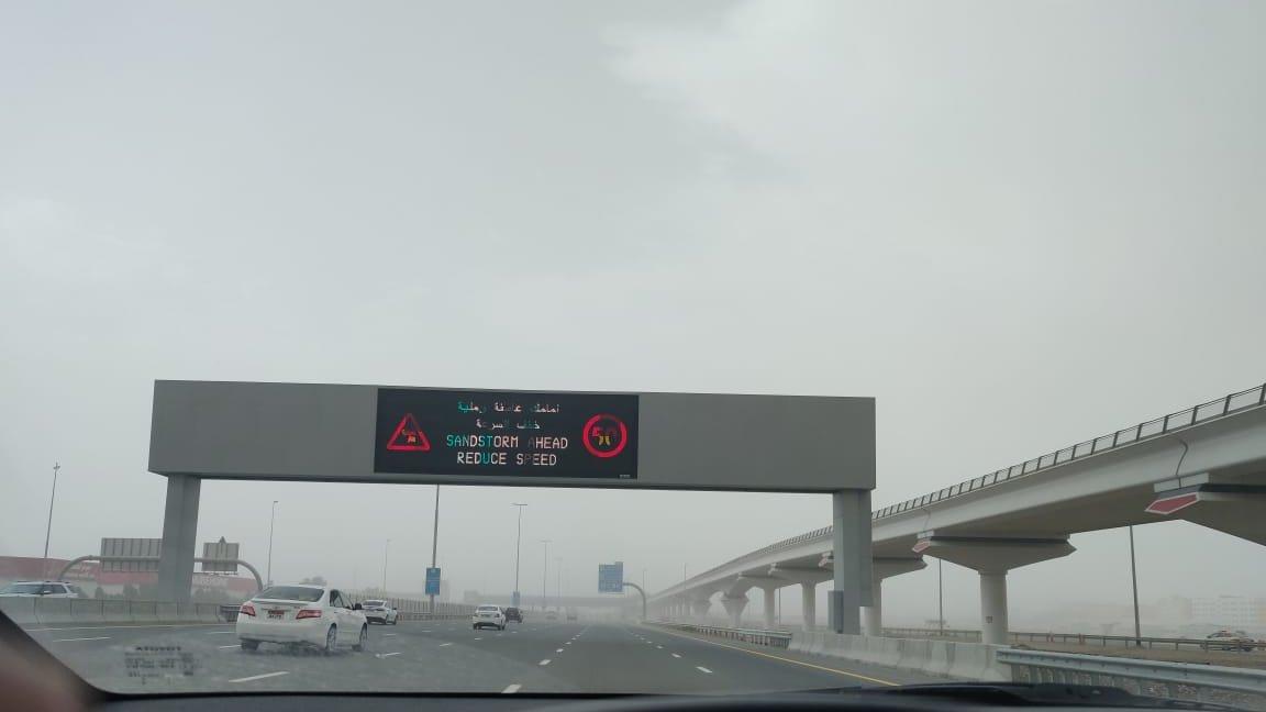 #Dubai hit by #sandstorm and #rain on the 2 days of #EidUlFitr