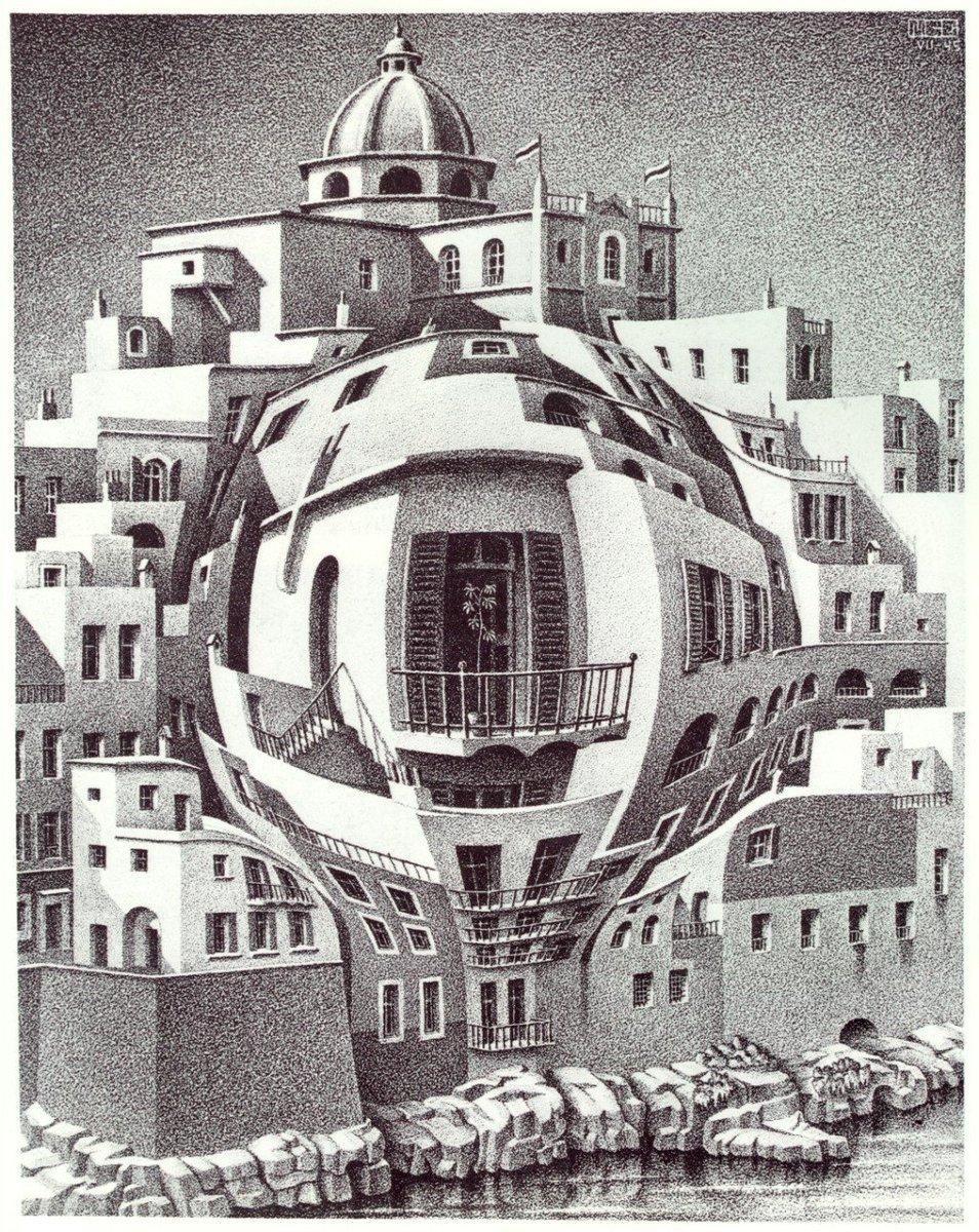 Balcony, 1945 #escher #surrealism pic.twitter.com/7RBS1fg202