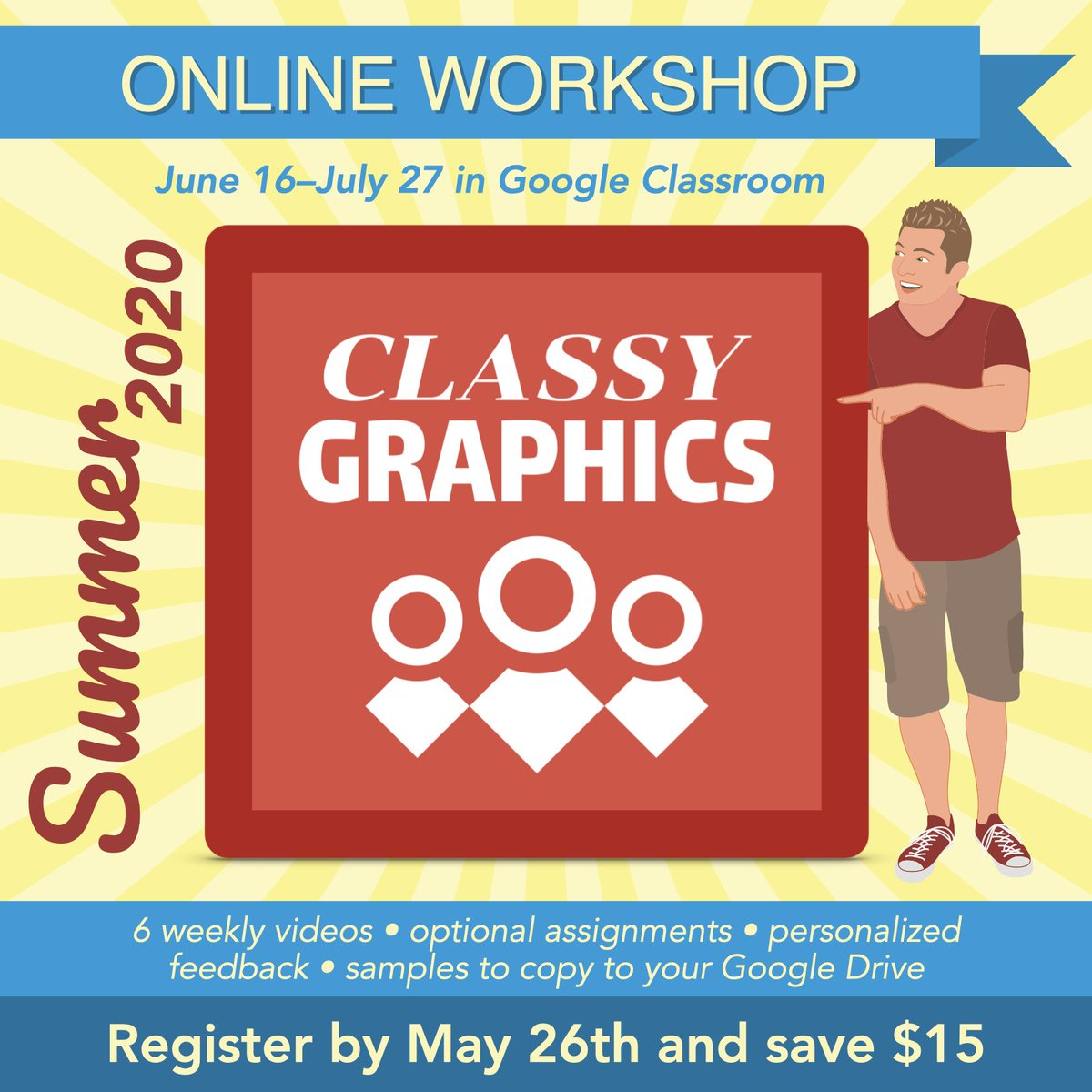📣 Today is the final day to save $15 on #ClassyGraphics. Id love you to join the Summer 2020 cohort! #GoogleEdu #tosachat #GSuiteEDU learninginhand.com/classygraphics