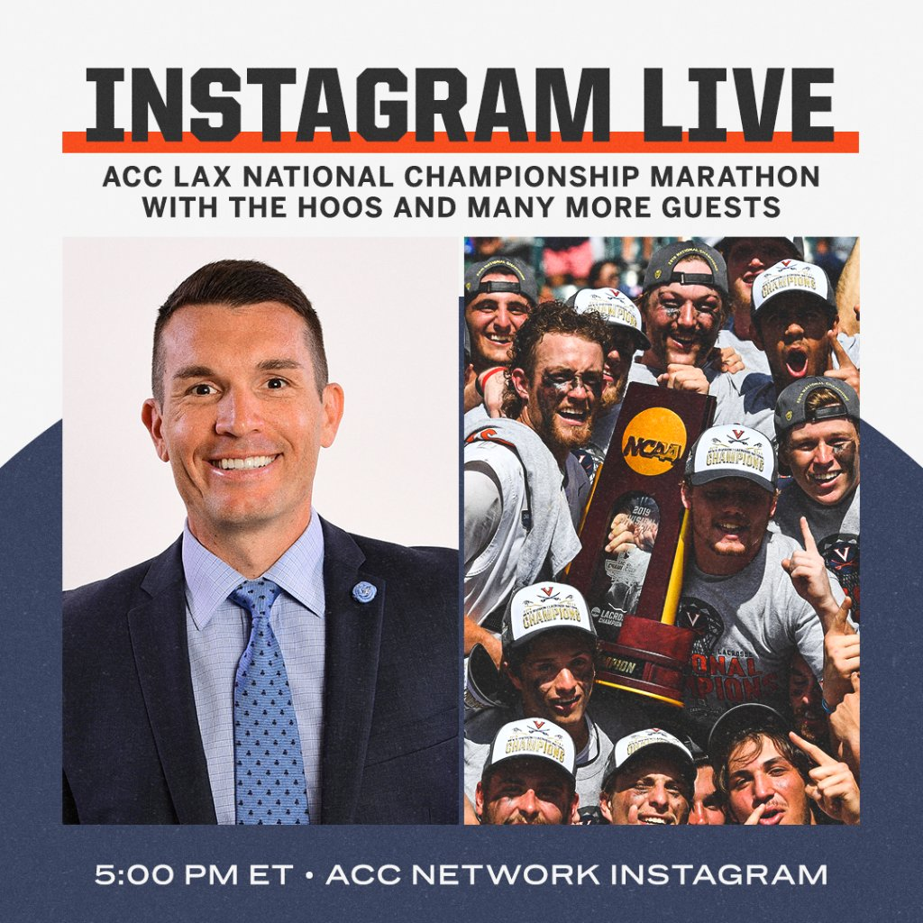 🔜 IG Live with @UVAMensLax 🥍🏆 Be there!