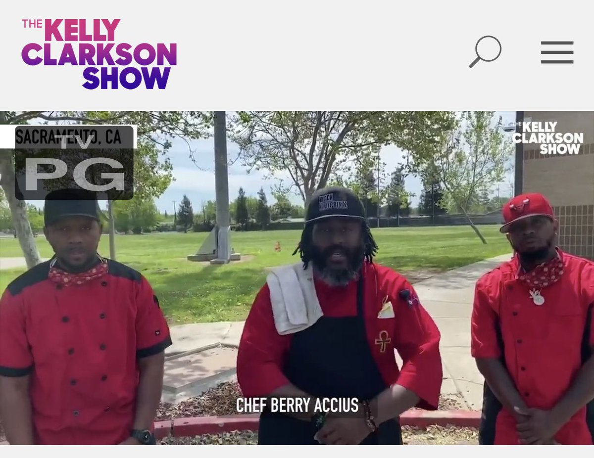 Hey @kellyclarkson thank you for highlighting the 3 Black Chefs from @TheCityofSac On @KellyClarksonTV they are so deserving & a perfect example of #goodneighbors @BerryAccius  https://t.co/m443QxmfSs https://t.co/8kL5Pxb4pV