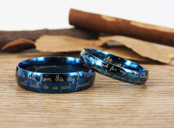 Handmade Your Marriage Vow & Signature Rings  #jewelry #ring @EtsyMktgTool #weddingrings #jewelry #weddingbands