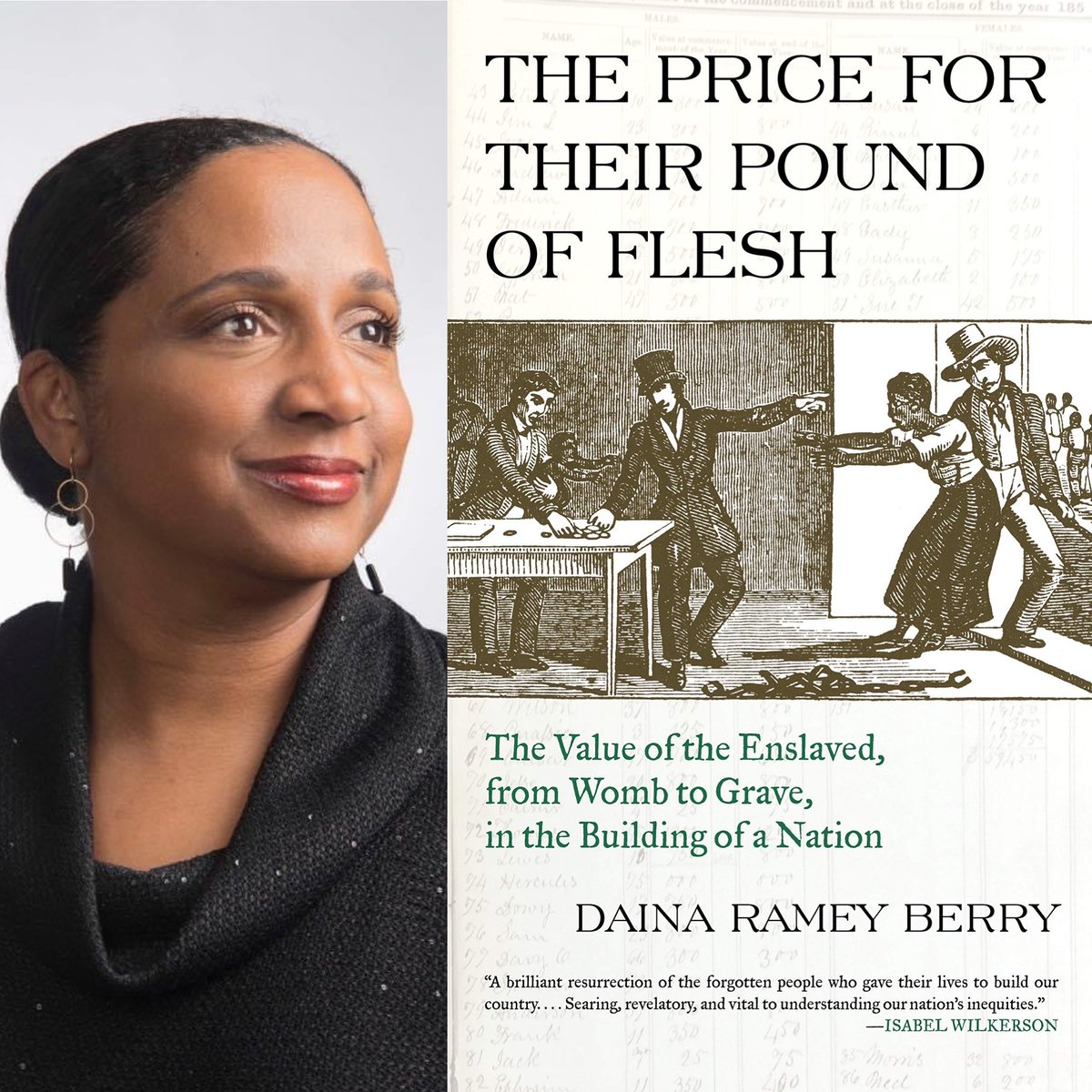 "#BOOK84 Daina Ramey Berry's The Price for Their Pound of Flesh: ""...exploitation of both sexes occurred when enslavers forced enslaved people to copulate against their will--which I labeled third-party rape."" #slaveryarchive #WomenAlsoKnowHistory pic.twitter.com/mH16zHaY1C"