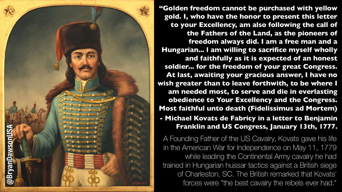 Hungarian Immigrant. Founding Father of the US Cavalry. Hero who gave his life for American independence. Col. Commandant Michael Kovats de Fabriczy. #NeverForget #MemorialDay2020 #MemorialDay @HungaryinUSA @NATOHungary @HungaryToday @USArmy @Citadel1842 americanhungarianfederation.org/news_michael_k…