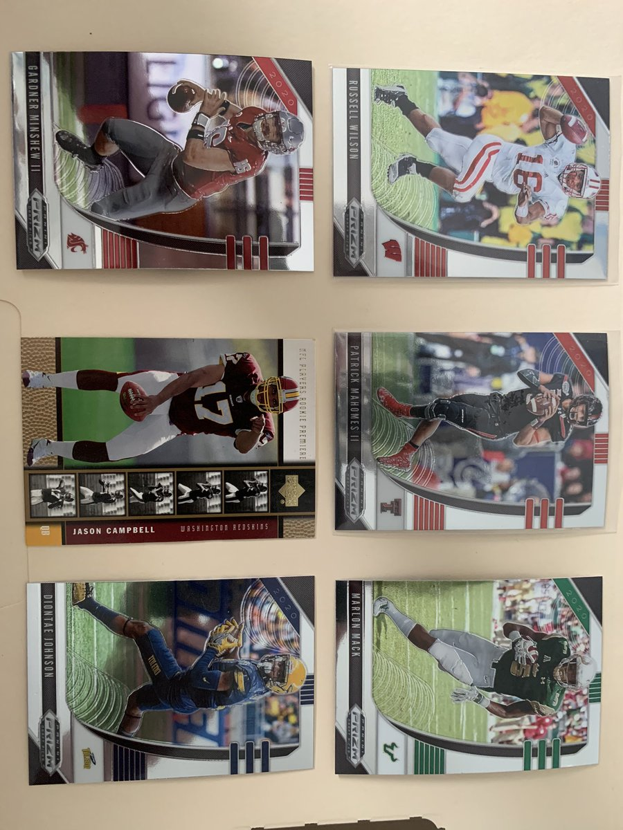 NFL LOT- $12 all 6 cards Mahomes $5.99 Wilson $ 5.49 Campbell Rookie $1.99 Minshew $1.99 Johnson/Mack $0.50  Flat Shipping for any purchase listed in BIO  Buy more than 1 for combined! #sportscards #sportscardsforsale #nfl #nflcardspic.twitter.com/MuXEbjiMCz