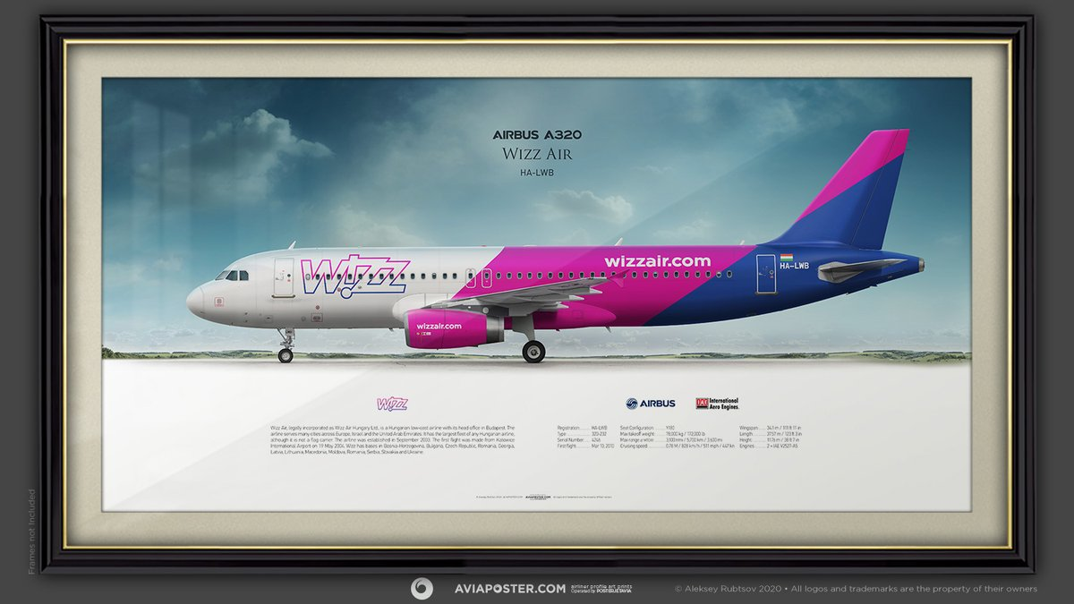 Airbus A320 Wizz Air HA-LWB Airliner Profile Art Prints | http://www.aviaposter.com  #aviation #avgeek #AviationFans #airliners #aviationprints #airplanepicture #aircraftpicture #aircraftprints #prints #pilotgift #WizzAir #airbus320 #A320series #airbuslovers #airbuspilot #airbusfanspic.twitter.com/awdFEMsWwT