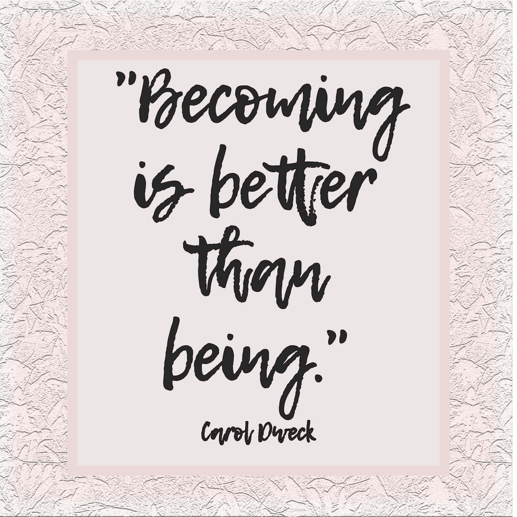 """""""Becoming is better than being."""" -Carol Dweck  Like if you are taking steps to become your best version.  #selfcarematters #overcome #pesonalgrowth #growthmindset #selfgrowth #selfdevelopment #selfimprovement #selfbelief #selfgrowjourney #intentionallivingpic.twitter.com/MysGoOv1eJ"""