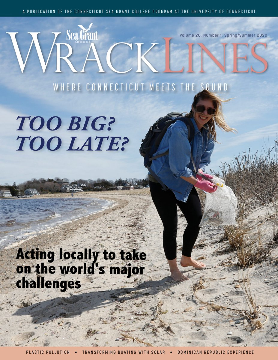 The @ctseagrant Spring-Summer 2020 issue of Wrack Lines is now available! This issue features Tessa Getchis' amazing article about a project at a school for girls in the Dominican Republic and more on topics like solar-electric boating. Available at: http://ow.ly/htZT50zLOKgpic.twitter.com/7YHcHcx5j6