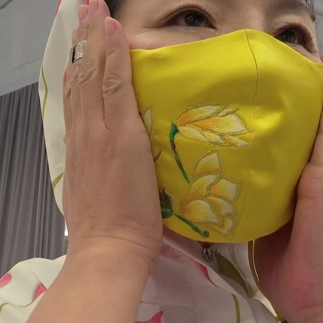 Face masks have become the fashion accessory of the coronavirus pandemic and this Chinese designer thinks the trend is here to stay.