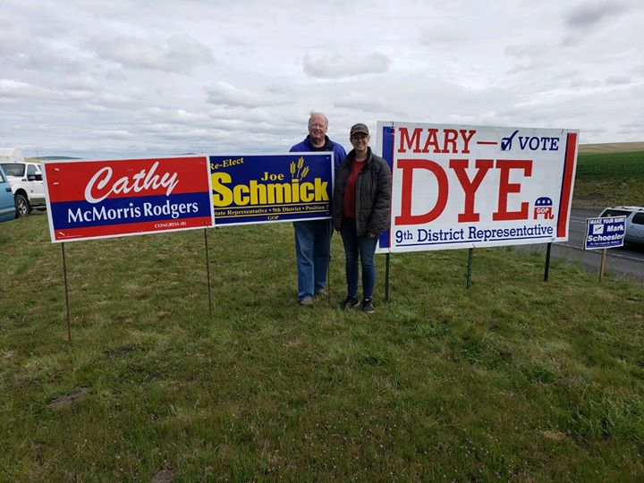 Signs of the time - #Elections2020 #waleg #waelex   Eastern WA Representatives of the people!  #Republicans @TeamCMR #WA05 #VoteRed https://t.co/0WMDzvEeJX