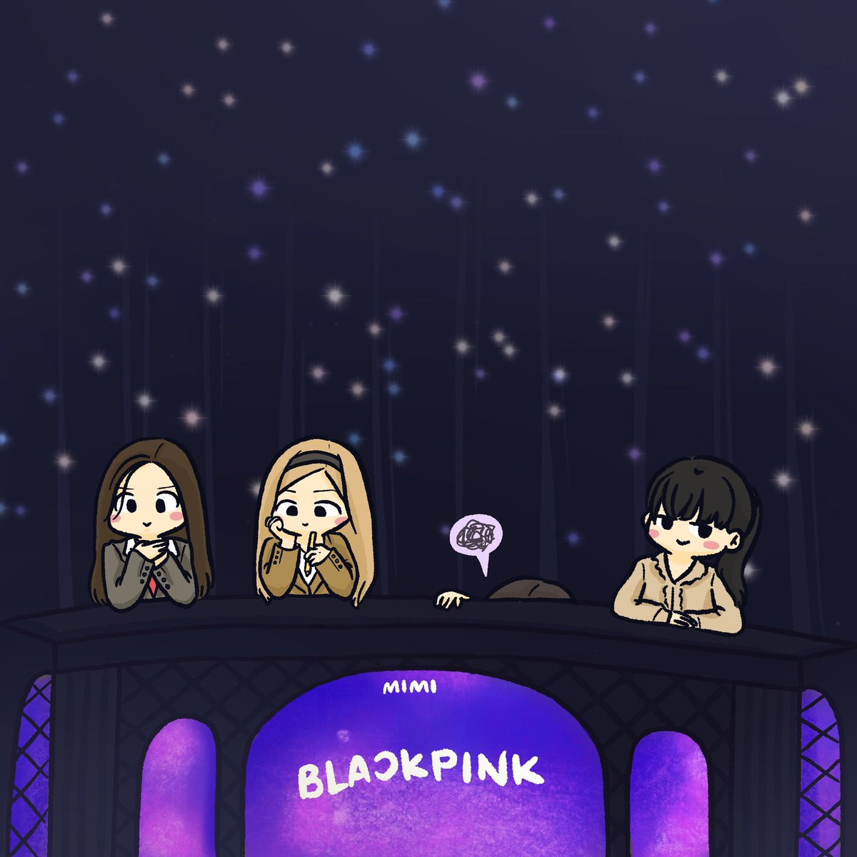 jennie behind the pinks    #BLACKPINK @ygofficialblink<br>http://pic.twitter.com/7IvyVYucQG