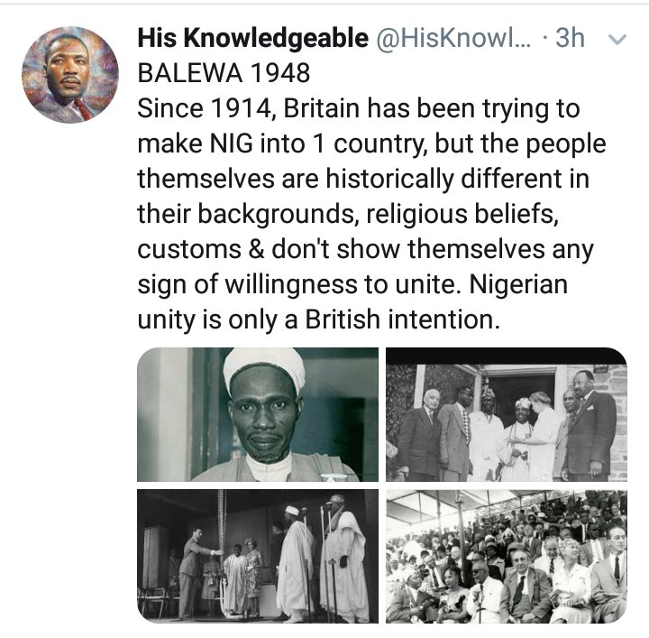 @MrFixNigeria PLAIN TRUTH  From Oct 1, 1960, till date, many events in the archives, explain HOW Nigeria WENT WRONG.   But the Jan 15, 1966 Coup was the last straw.   That said, Britain & Nigeria's Founding Fathers foresaw today, thus, why they opted for a LOOSED FEDERATION at the 1954 CONFAB. https://t.co/qCPOPXfoce