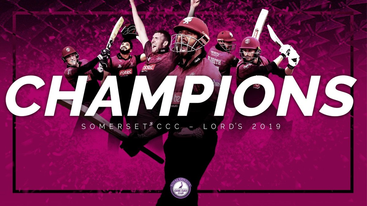 SOMERSET WIN THE 2019 ROYAL LONDON ONE-DAY CUP!!!!!!!!! 🍾🏆🍾🏆🍾🏆 #SomersetRewind ⏮ #WeAreSomerset #SOMvHAM2019
