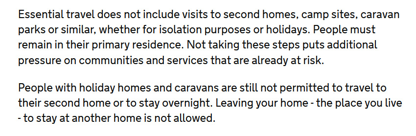 @lewis_goodall The guidelines do not *allow* exceptional circumstances to be given as a reason for travel or relocation. They rule it out explicitly.