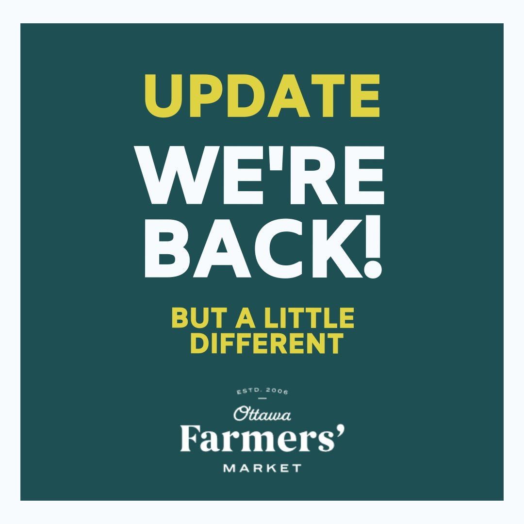 Hi #Ottawa! The moment has arrived for our big reveal! WE'RE BACK!  But, it will be a little different than before. Our Lansdowne Market will be reopening as a Click and Collect! (Please read whole thread) #MyOttawa (1/4)pic.twitter.com/TtZttffG18